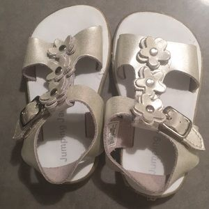 Silver toddler girl sandals